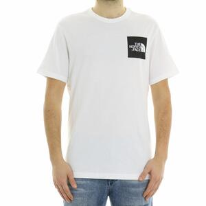 T-SHIRT LOGO BOX THE NORTH FACE BIANCO