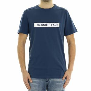T-SHIRT LOGO THE NORTH FACE BLU