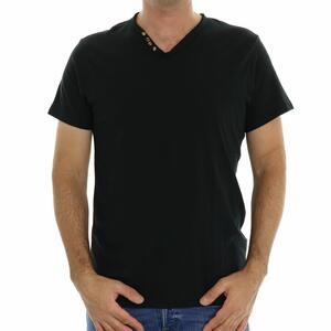 T-SHIRT SCOLLO V NERO