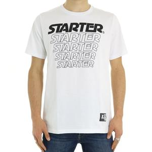 T-SHIRT CON STAMPA FRONTALE STARTER BIANCO