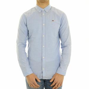 CAMICIA BOTTON DOWN TOMMY JEANS AZZURRO