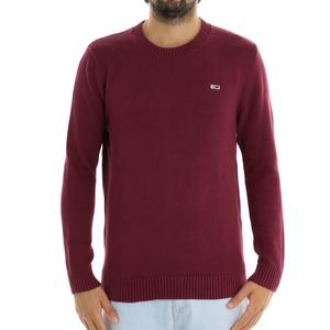 MAGLIA GIRO TOMMY JEANS ROSSO