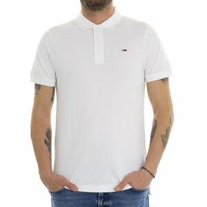 POLO SOLID STRETCH BIANCO