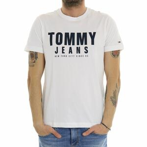 T-SHIRT CENTER CHEST TOMMY GRAPHIC BIANCO