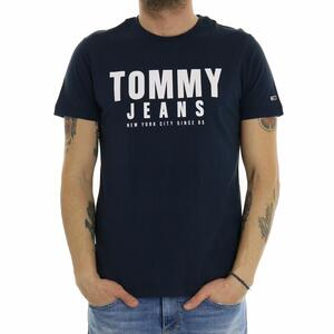 T-SHIRT CENTER CHEST TOMMY GRAPHIC BLU