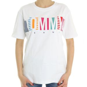 T-SHIRT STAMPATA TOMMY JEANS BIANCO