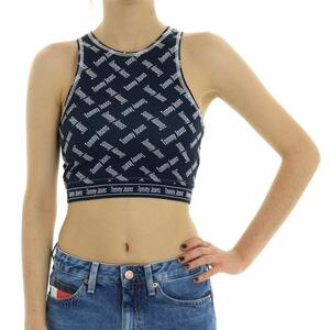 TOP LOGO TOMMY JEANS BLU
