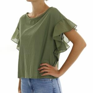 T-SHIRT ROUCHES MILITARE