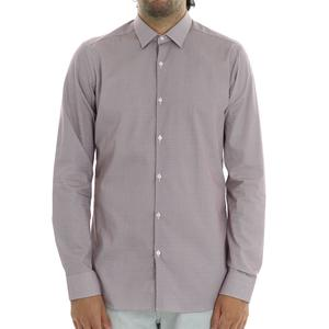 CAMICIA MICROFANTASIA CALIBAN BORDEAUX