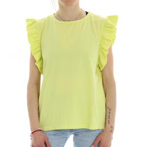 T-SHIRT RUCHES LIME