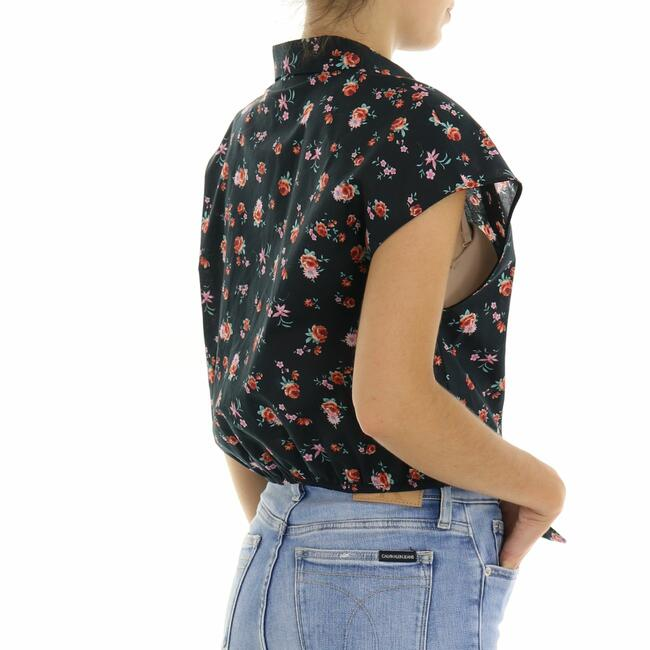CAMICIA CROP FIORI VICOLO - Mad Fashion | img vers.650x/