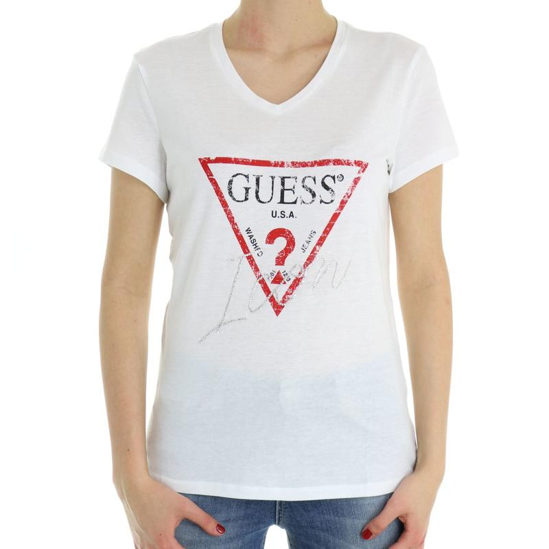 bdd8663155aa T-shirt donna stampa frontale GUESS